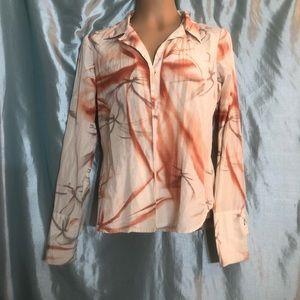 Rare! Vintage Oakley tailored silk blouse, L